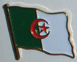 Algeria Country Flag Enamel Pin Badge